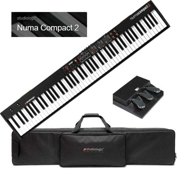 Studiologic Numa Compact 2 【専用ケース/SLP3-D (純正3本ペダル)セット】【スタジオロジック】【ヌマ・コンパクト 2】【88鍵盤】【送料無料】