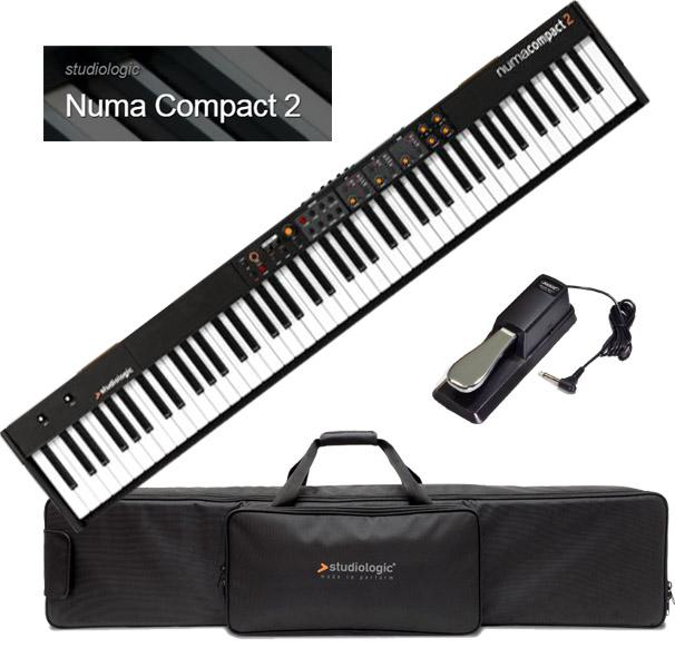 Studiologic Numa Compact 2 【専用ケース/汎用ダンパーペダルセット】【スタジオロジック】【ヌマ・コンパクト 2】【88鍵盤】【送料無料】
