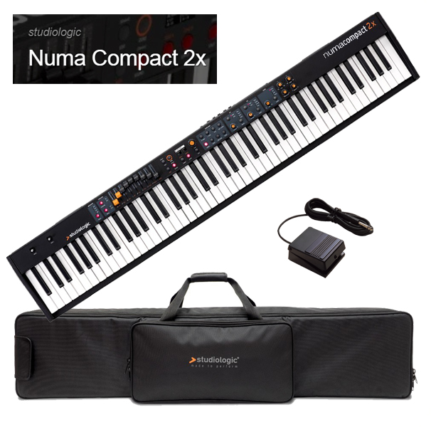 Studiologic Numa Compact 2x 【専用ケース/汎用フットペダルスイッチセット】【スタジオロジック】【ヌマ・コンパクト 2X】【88鍵盤】【送料無料】