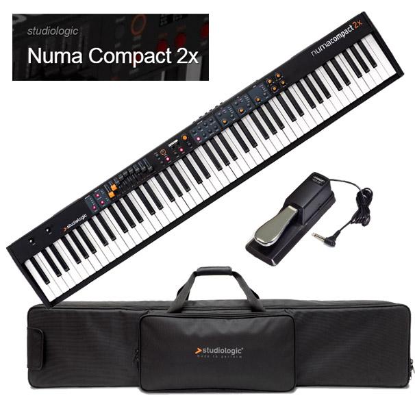 Studiologic Numa Compact 2x 【専用ケース/汎用ダンパーペダルセット】【スタジオロジック】【ヌマ・コンパクト 2X】【88鍵盤】【送料無料】