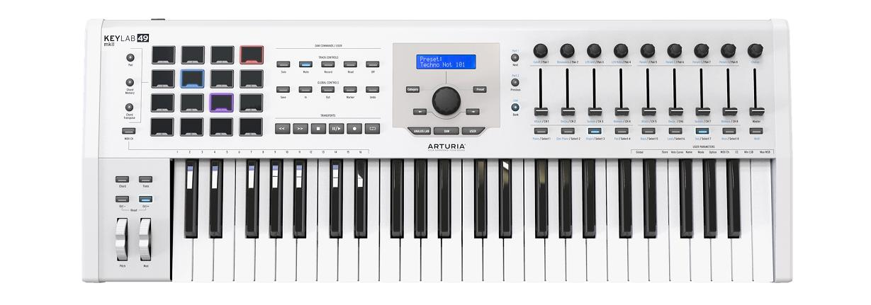 ARTURIA ARTURIA KEYLAB 49 MK 2 White【オートリア】【キーラボ】【新製品!!】【送料無料】