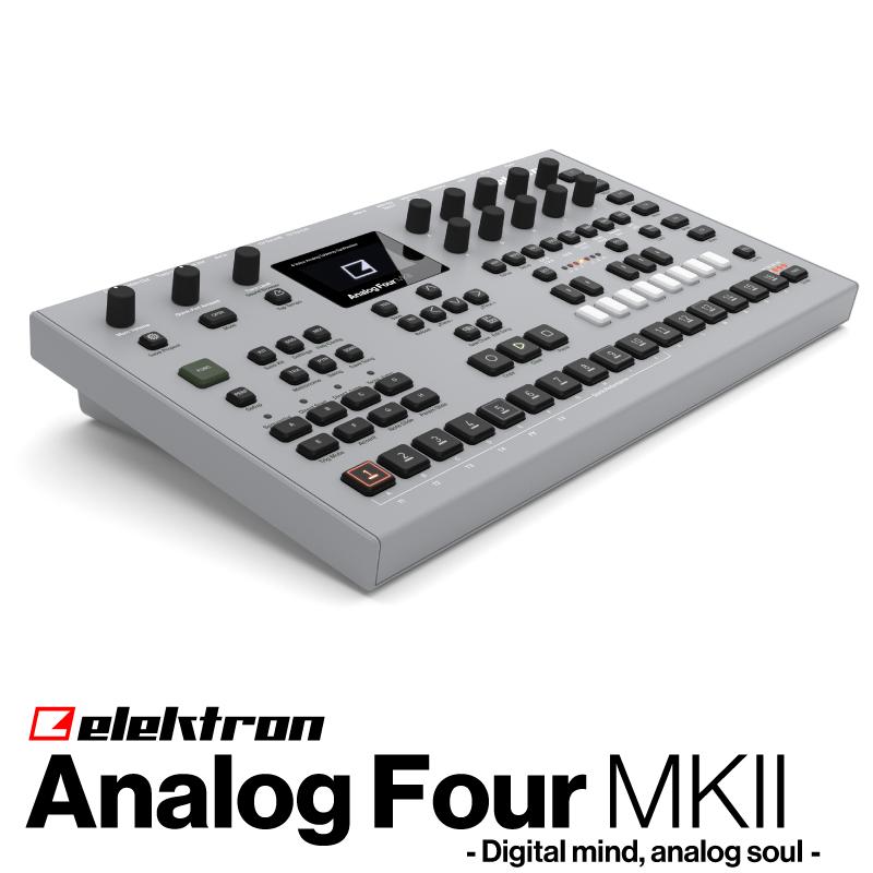 ElektronAnalog Four MKIIATS-4 MKII【エレクトロン】【アナログフォー】【4ボイス】【ポリフォニック】【アナログシンセサイザー】【送料無料】