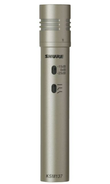 SHURE (シュアー)KSM137/SL【KSM137SL-X】【楽器用コンデンサー型マイクロホン】 【送料無料】