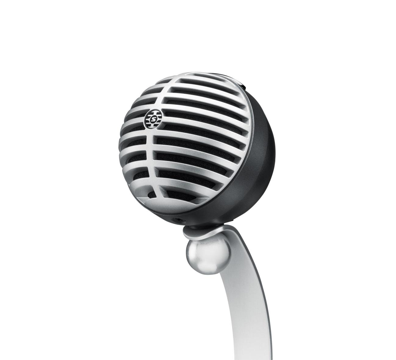 SHURE シュアー MV5/A-G-LTG-A【MOTIV™ MV5 デジタル・コンデンサー・マイクロホン】【グレー】【iPad・iOS対応】 【送料無料】