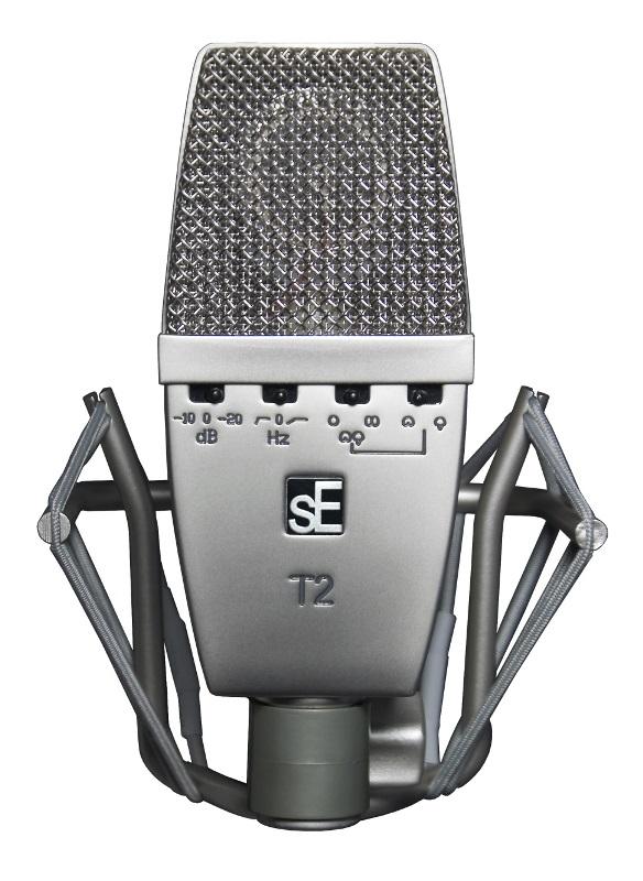 sE ElectronicsT2【ラージダイアフラムFETコンデンサーマイク】【マルチパターン】【専用サスペンション、フライトケース付属】【送料無料】