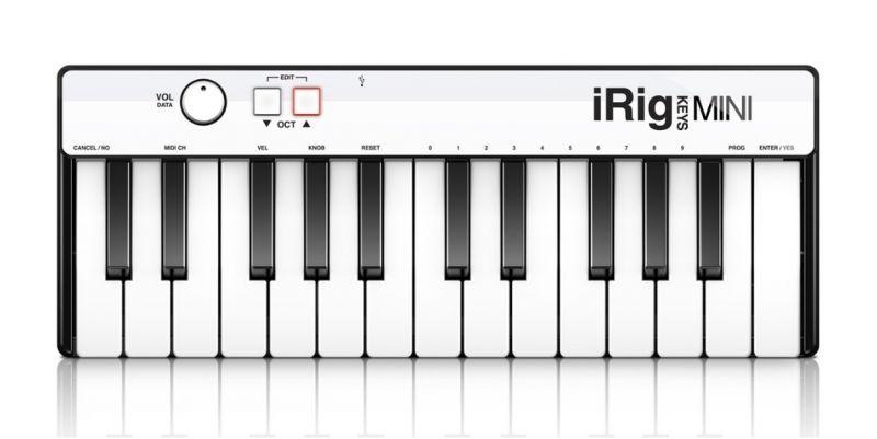 IK Multimedia iRig Keys mini 【アイリグ】【モバイルMIDIコントローラー】【ミニサイズ25鍵盤】【送料無料】