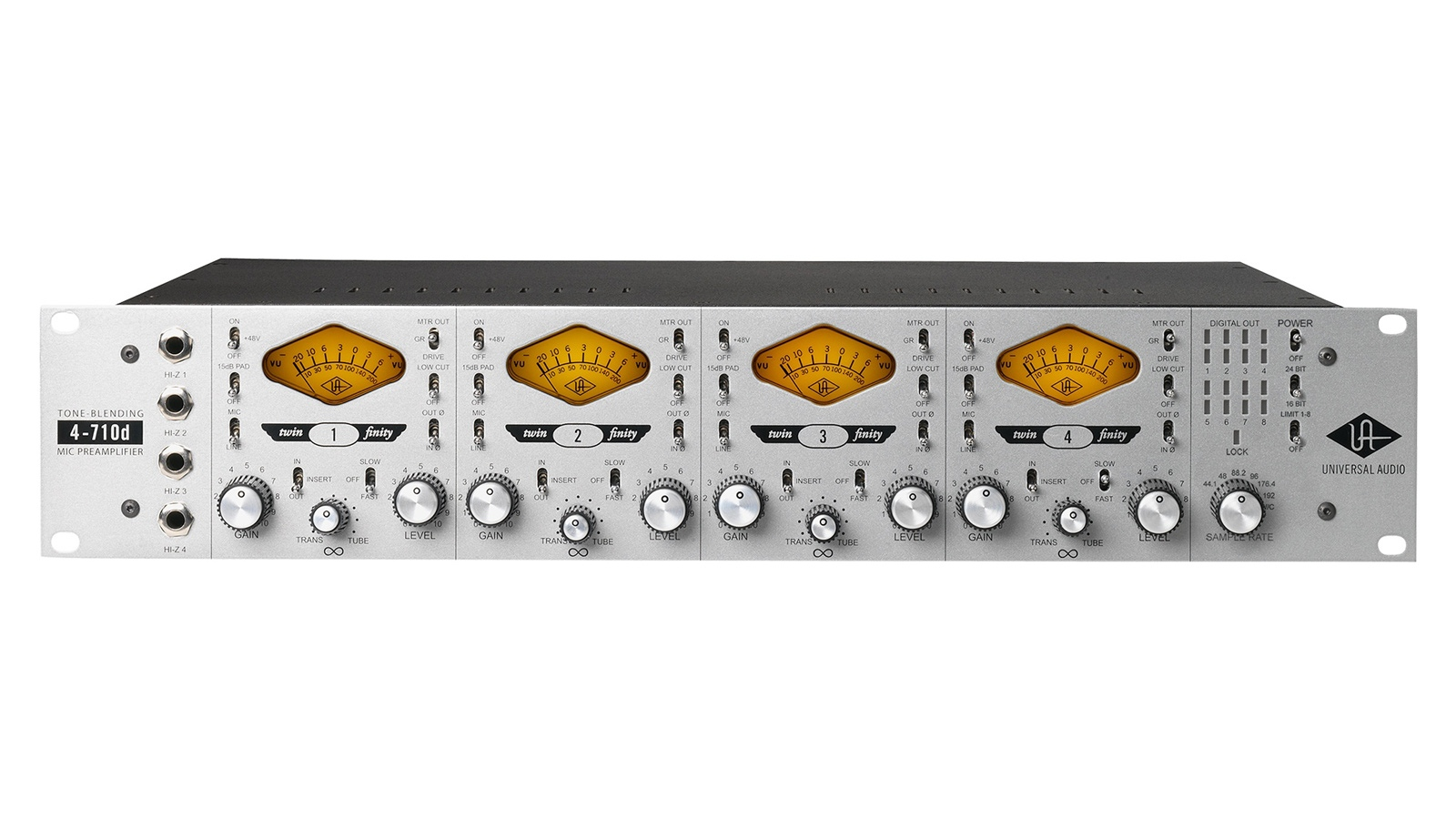 UNIVERSAL AUDIO4-710d Four-Channel Tone-Blending Mic Preamp w/ Dynamics【マイクプリ】【送料無料】