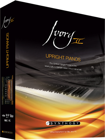 SynthogyIvory II Upright Pianos【送料無料】
