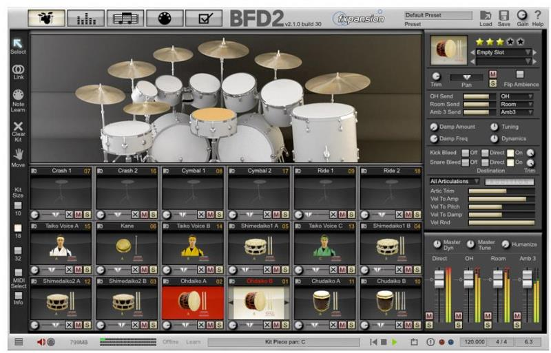 Fxpansion (BFD)Japanese Taiko Percussion【BFD Expansion Packs】【BFD拡張音源】【送料無料】