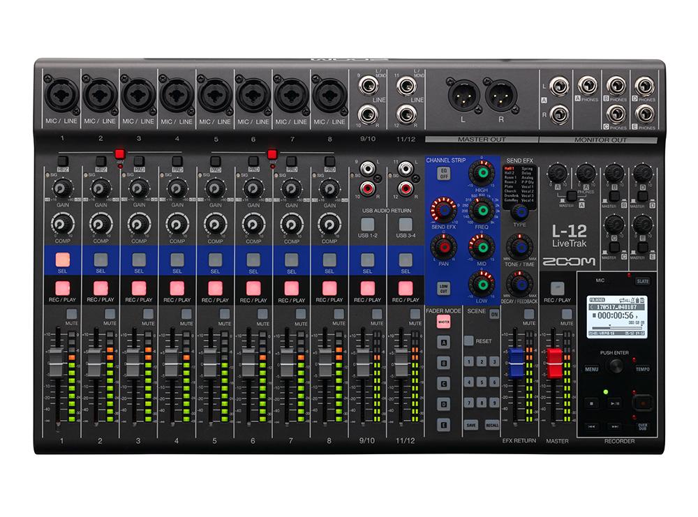 ZOOM (ズーム) LiveTrak L-12 【12-Track Live Mixer / Recorder】【12チャンネルミキサー/12トラックレコーダー/14イン/4アウトのUSBオーディオ・インターフェース】【送料無料】