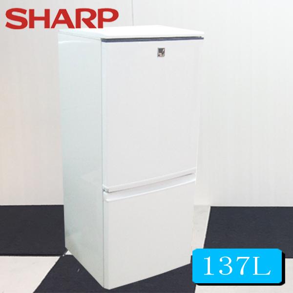 冷蔵庫 中古 シャープ冷凍冷蔵庫137L SJ-14E2-KB 小型冷蔵庫 2ドア冷蔵庫 冷蔵庫中古 中古冷蔵庫 冷蔵庫一人暮らし 送料無料