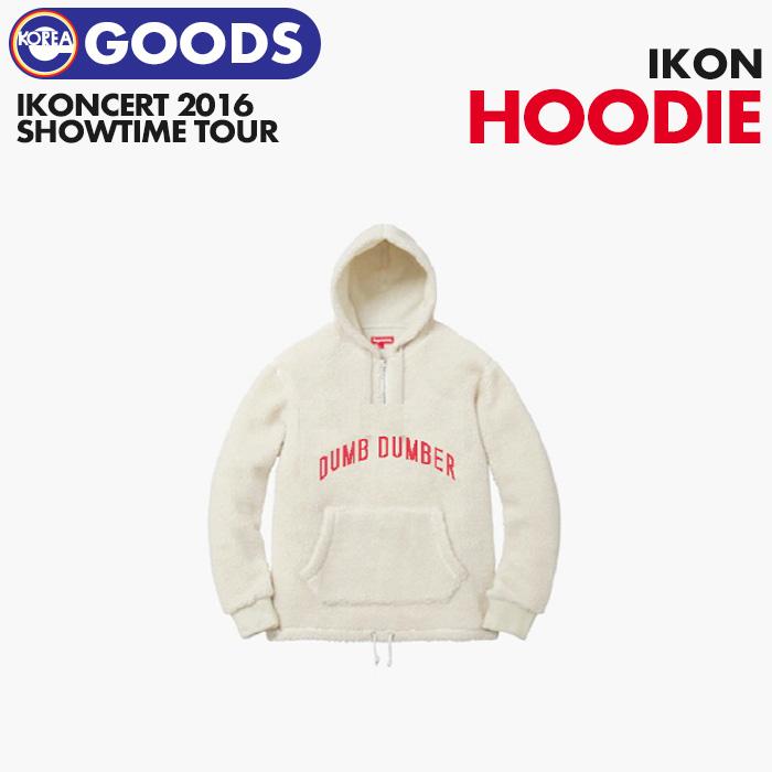 【即日発送】【 iKON FLEECE ZIP HOODIE 】   iKONCERT 2016 SHOWTIME TOUR 公式グッズ