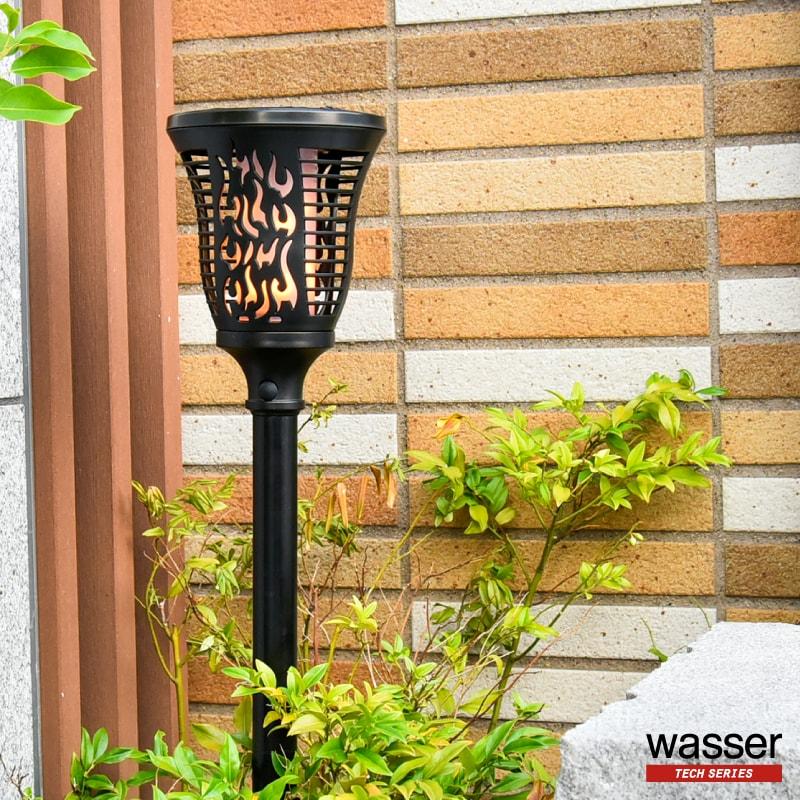 トーチ型とブラケット型に対応したソーラーライト9sp10 使えるクーポン配布中 Wasser ガーデンライト 埋め込み式 ソーラーライト ブラケット型 明暗センサー センサー テレワーク ガーデン 電球色 照明 ライト LED 在宅勤務 驚きの値段 おしゃれ 大特価!! 屋外