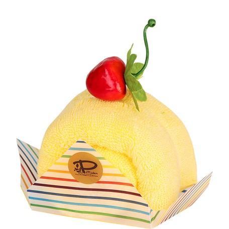 ちょっとしたギフトに 即納 今治 ケーキタオル ロールケーキ 人気 使い勝手の良い ハンカチ 日本製 雑貨 お返し プチギフト 手土産 上質 母の日 おしゃれ 父の日 店内全品対象 お礼 単品 実用的 かわいい マンダリン イエロー プレゼント