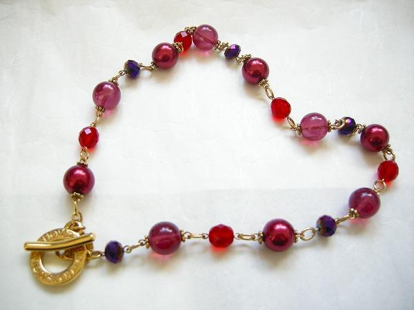 送料無料お手入れ要らず ビンテージ 記念日 ベネチアガラス 赤のネックレス