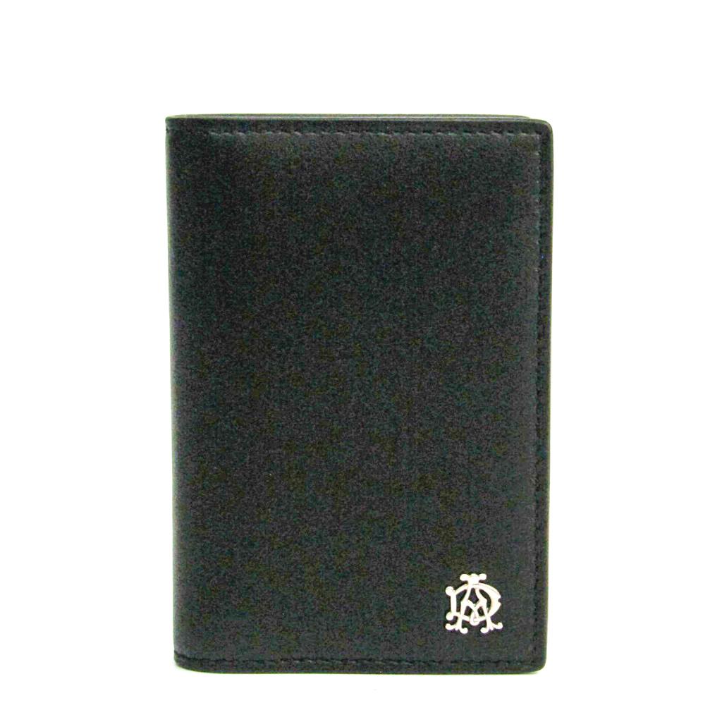 ダンヒル(Dunhill) レザー カードケース ブラック 【中古】