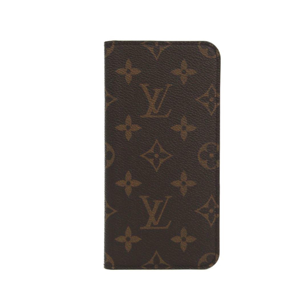 ルイ・ヴィトン(Louis Vuitton) モノグラム モノグラム 手帳型/カード入れ付きケース iPhone 7 Plus 対応 マロン IPHONE7+ 8+・フォリオ M63400 【中古】