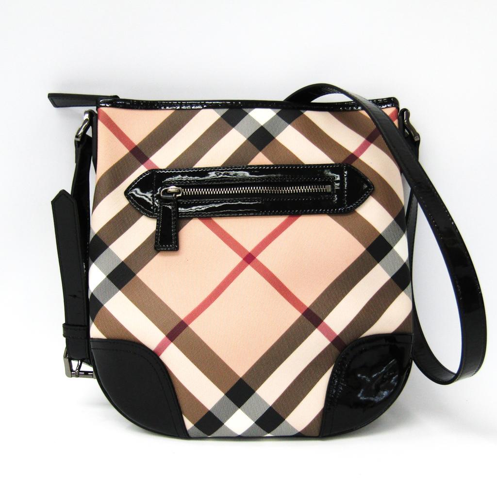 Burberry (Burberry) 3470382 Lady s patent leather, PVC shoulder bag beige,  black ddc63ee4e0