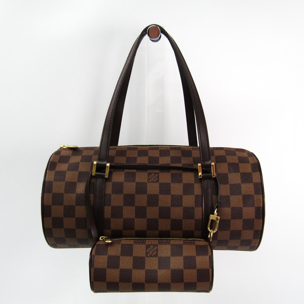 69c9404aa902 ルイヴィトン(Louis Vuitton) ダミエ パピヨン30 N51303 ハンドバッグ エベヌ 【中古】