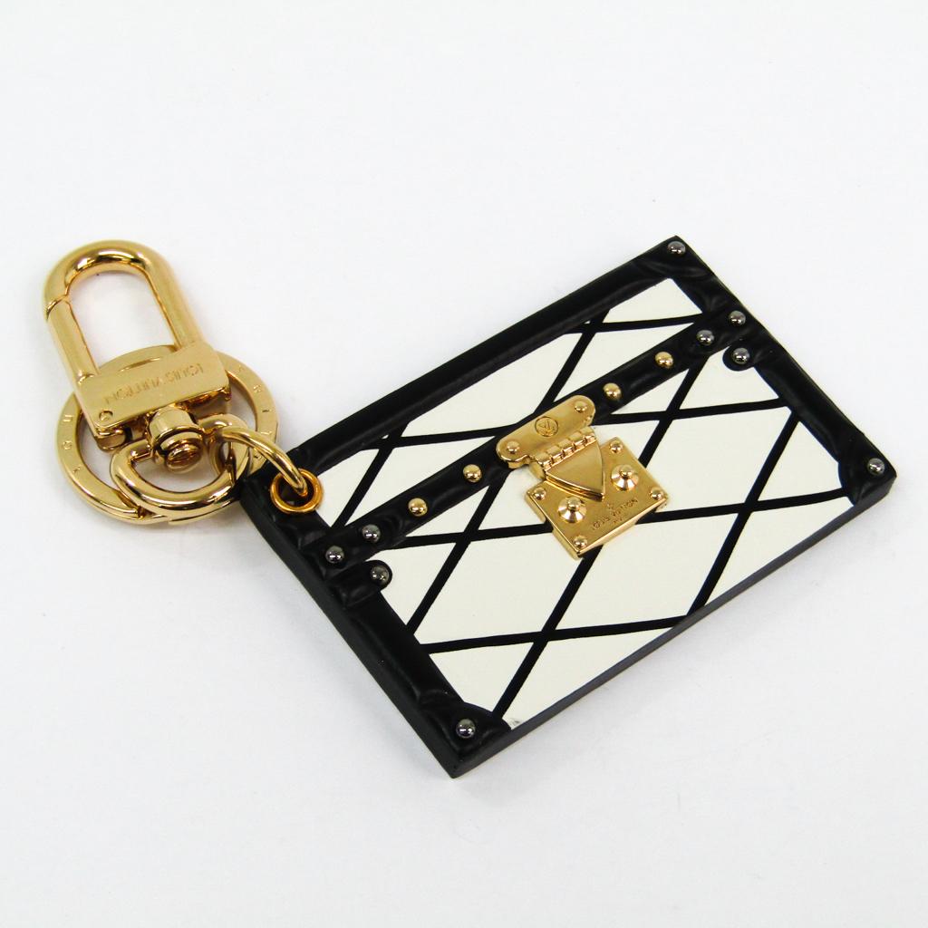 ルイヴィトン(Louis Vuitton) キーホルダー (ホワイト,ブラック) プティット・マル M00004 【中古】