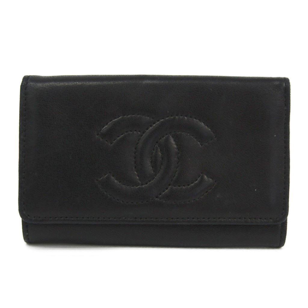 シャネル(Chanel) ココ レディース レザー キーケース ブラック 【中古】