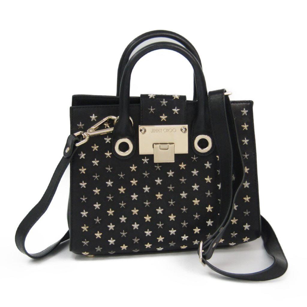 168109cc2e Jimmy チュウ (Jimmy Choo) Riley S Lady's leather studs handbag black ...