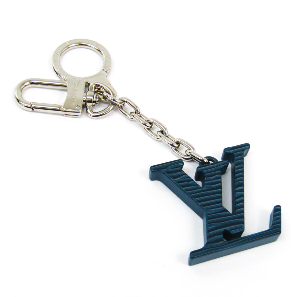 ルイヴィトン(Louis Vuitton) キーホルダー (ネイビー) ポルトクレイニシャルLV M67148 【中古】