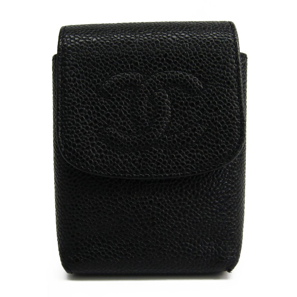 シャネル(Chanel) タバコケース キャビアスキン ブラック A13511 【中古】