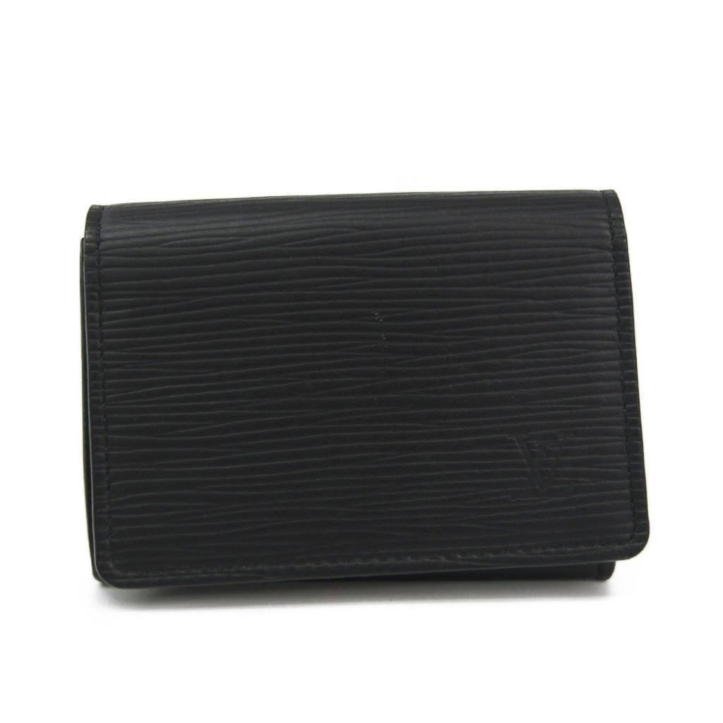 ルイヴィトン(Louis Vuitton) エピ レザー カードケース ブラック M60652 アンヴェロップ カルト・ドゥ ヴィジット 【中古】