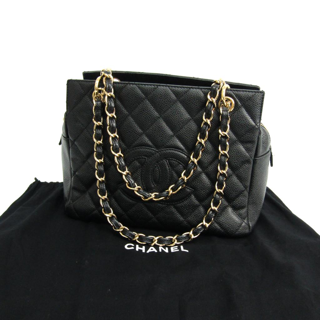 fbe57bce69db シャネル(Chanel) プチ・タイムレス・トート PTT A18004 キャビアスキン ハンドバッグ ブラック 【中古】
