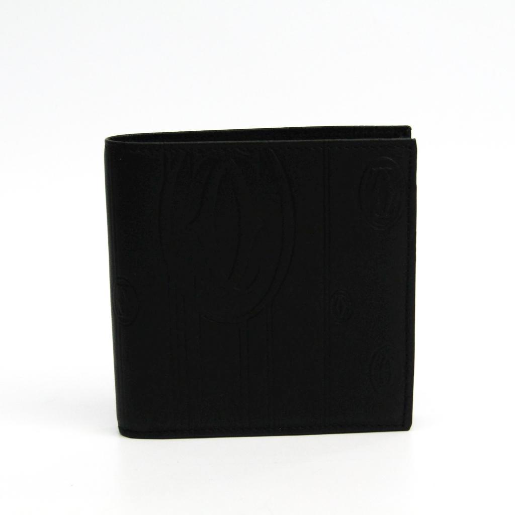 カルティエ(Cartier) パシャ マトリックス L3001209 メンズ レザー 財布(二つ折り) ブラック 【中古】