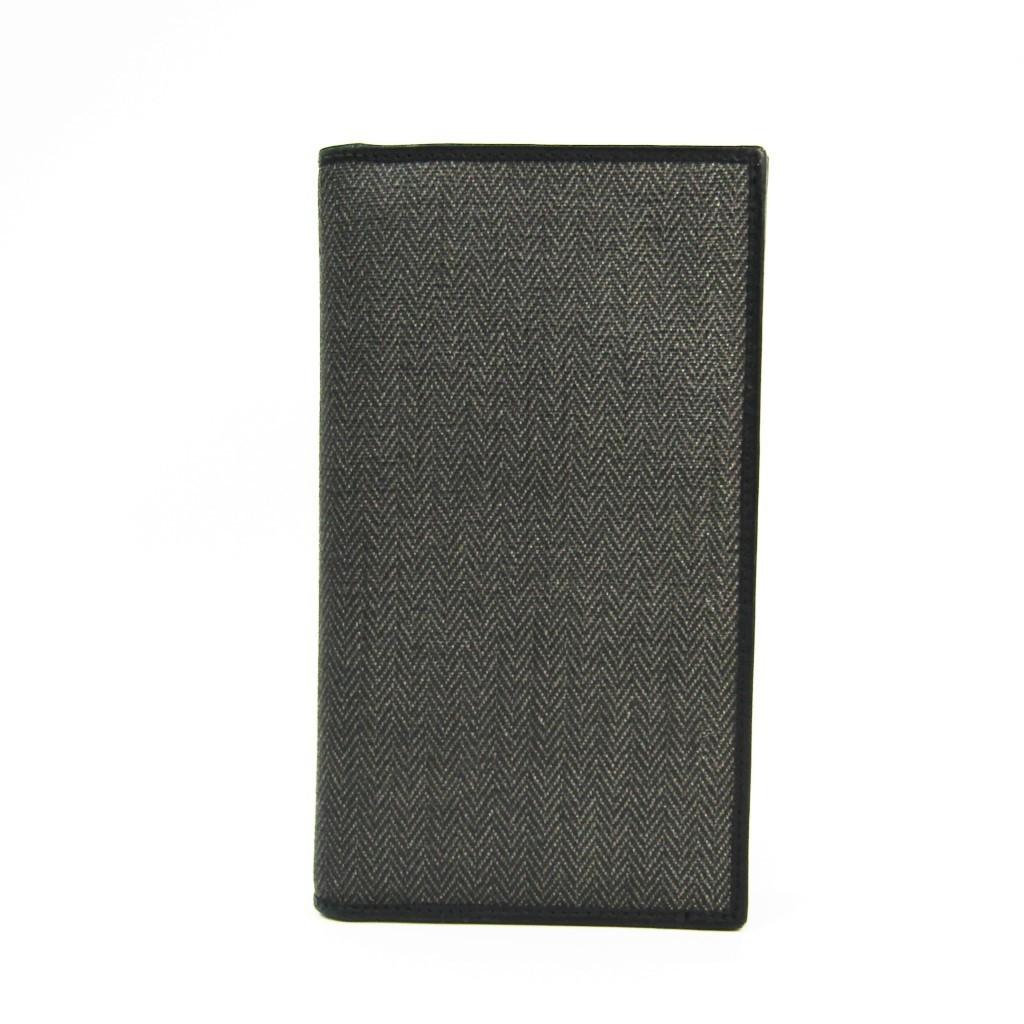 ブルガリ(Bvlgari) ウィークエンド 32582 メンズ レザー,PVC 長財布(二つ折り) ブラック,グレー 【中古】
