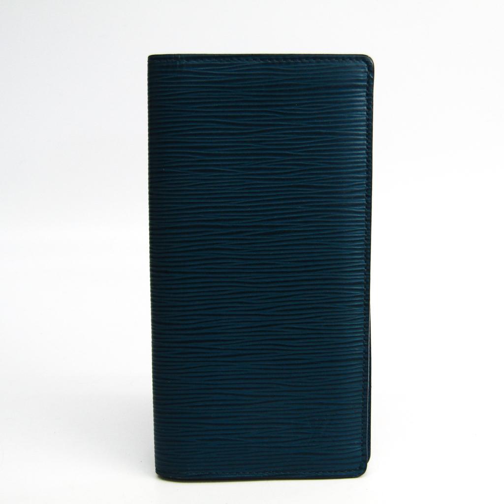 ルイ・ヴィトン(Louis Vuitton) エピ ポルトフォイユ・ブラザ M60616 メンズ エピレザー 長財布(二つ折り) ブルーセレスト 【中古】