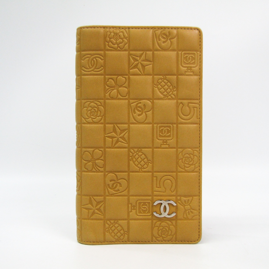 1a22796d3c84 シャネル(Chanel) アイコン スクエア レディース レザー 長財布(二つ折り) ベージュ 【