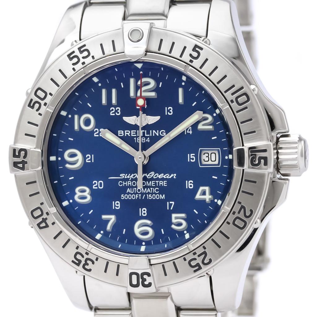 ブライトリング (BREITLING) スーパーオーシャン ステンレススチール 自動巻き メンズ 時計 A17360 (外装仕上げ済み)【中古】