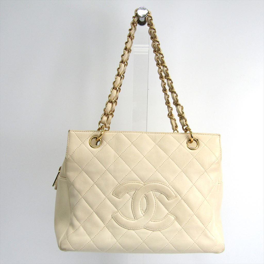 シャネル(Chanel) プチ・タイムレス・トート PTT A18004 レディース レザー ハンドバッグ ホワイト 【中古】
