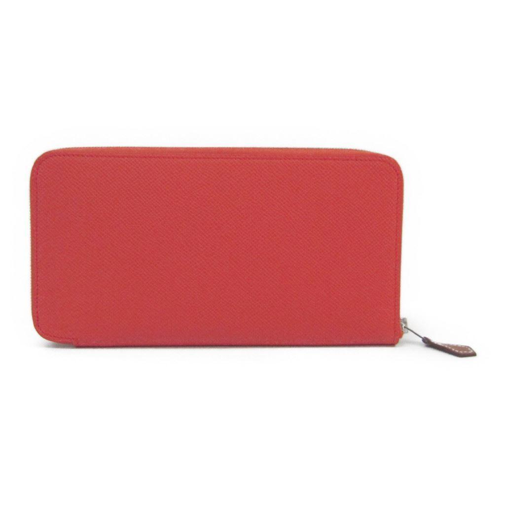 エルメス(Hermes) アザップ シルクイン ロング レディース エプソン 財布(二つ折り) オレンジポピー 【中古】