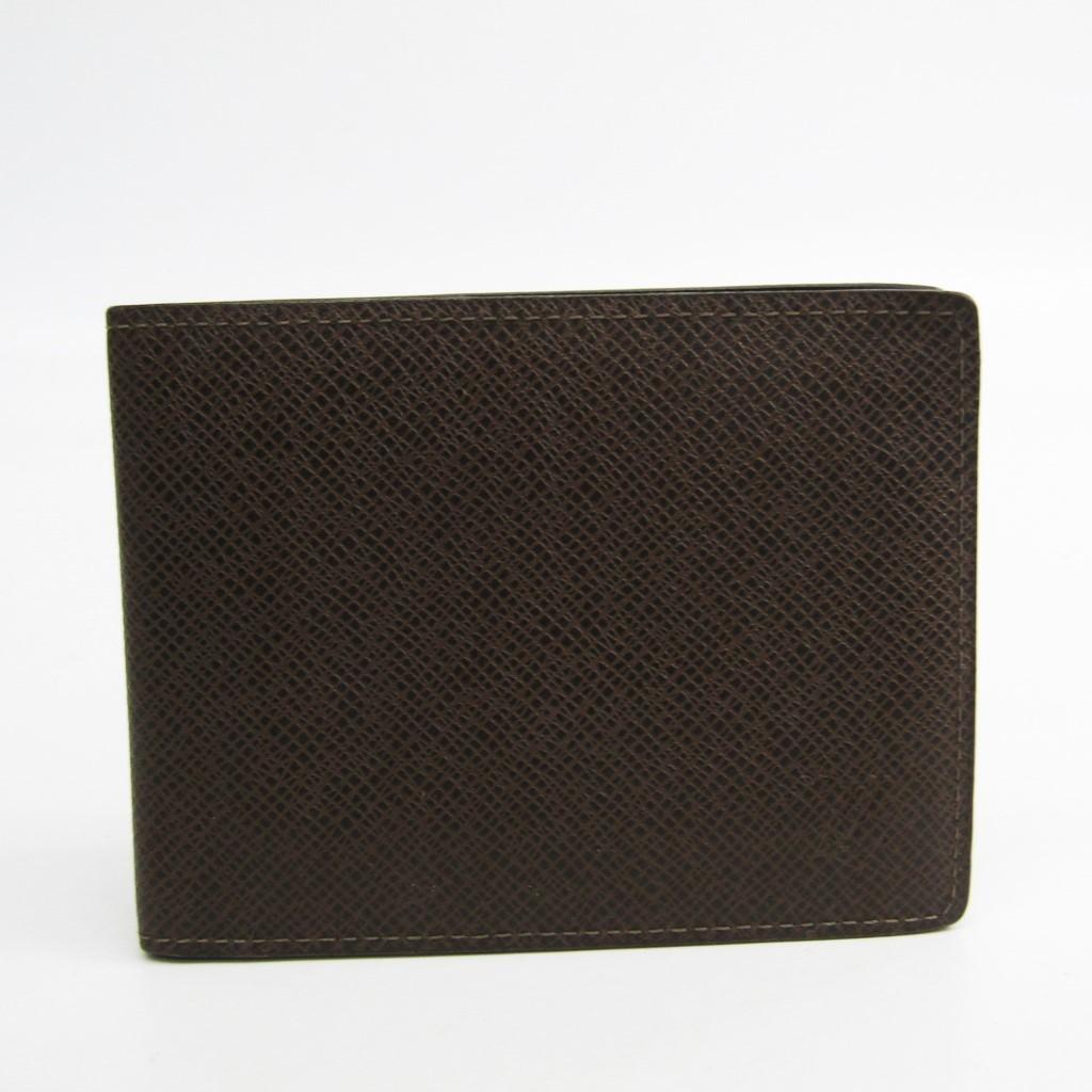 ルイヴィトン(Louis Vuitton) タイガ ポルトフォイユ・コンパクト M32658 メンズ タイガ 札入れ(二つ折り) グリズリ 【中古】