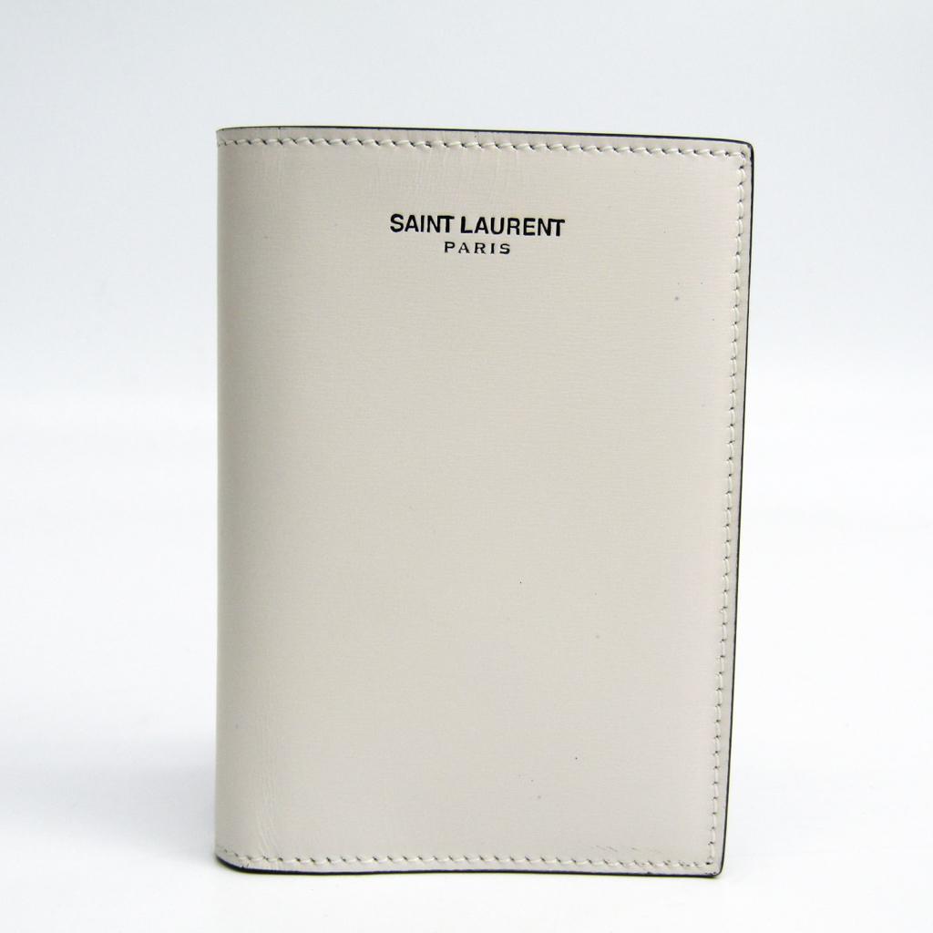 サン・ローラン(Saint Laurent) レザー カードケース ホワイト 396276 【中古】