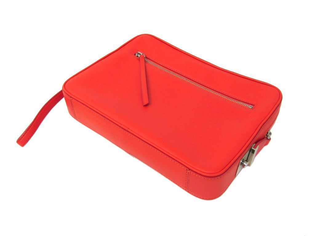 3169509c16fd 【中古】 セリーヌ(Celine) オレンジ クラッチバッグ レザー レディース-かごバッグ - www.embroitique.com