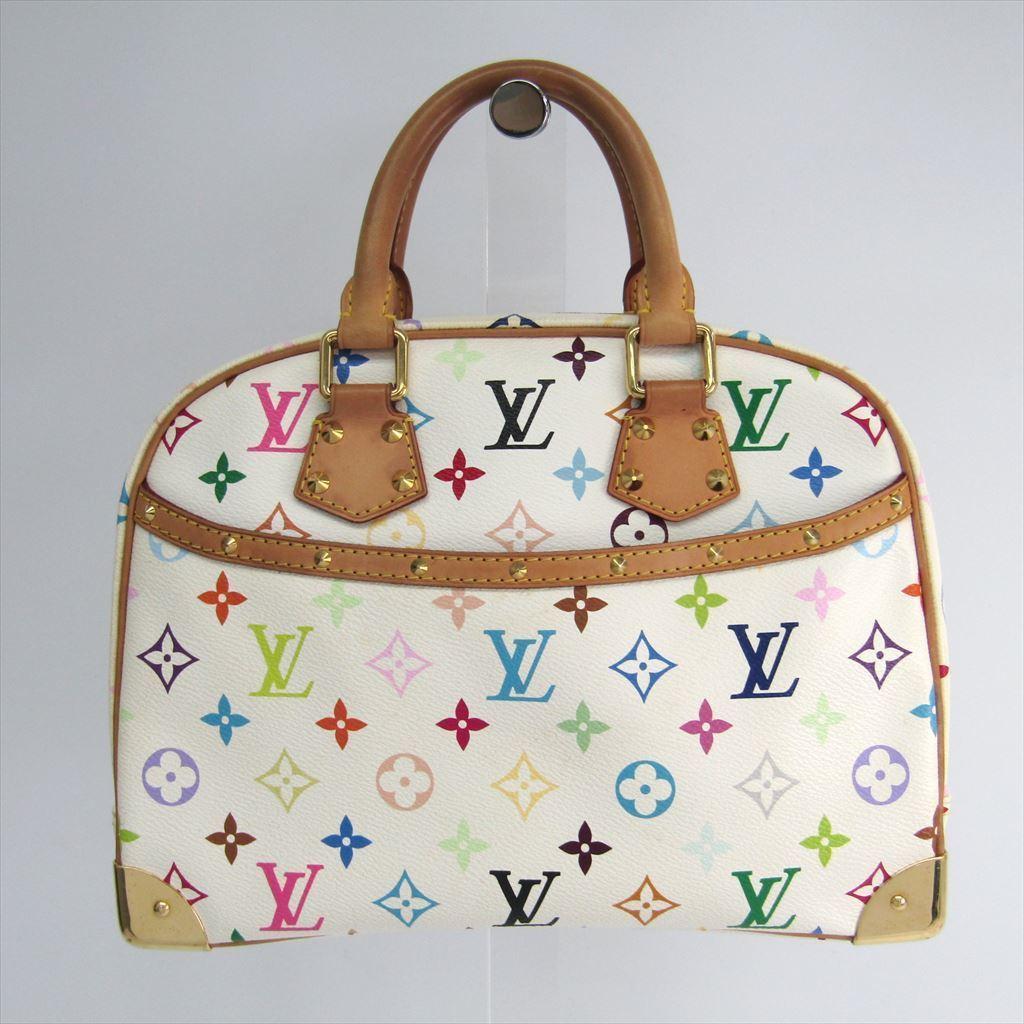 【中古】 ルイヴィトン(Louis Vuitton) モノグラムマルチカラー トゥルーヴィル M92663 レディース ハンドバッグ ブロン
