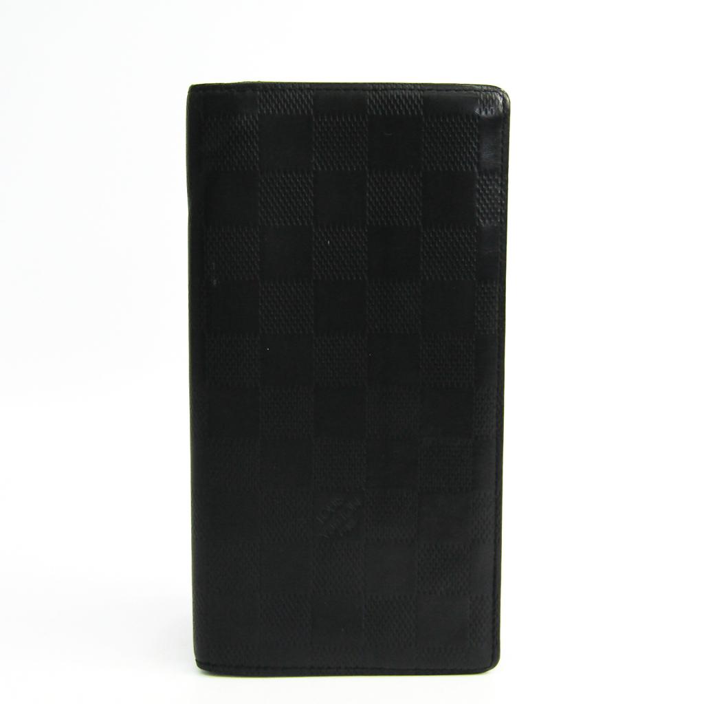 ルイヴィトン(Louis Vuitton) ダミエアンフィニ ポルトフォイユ・ブラザ N63010 メンズ ダミエアンフィニ 長財布(二つ折り) オニキス 【中古】
