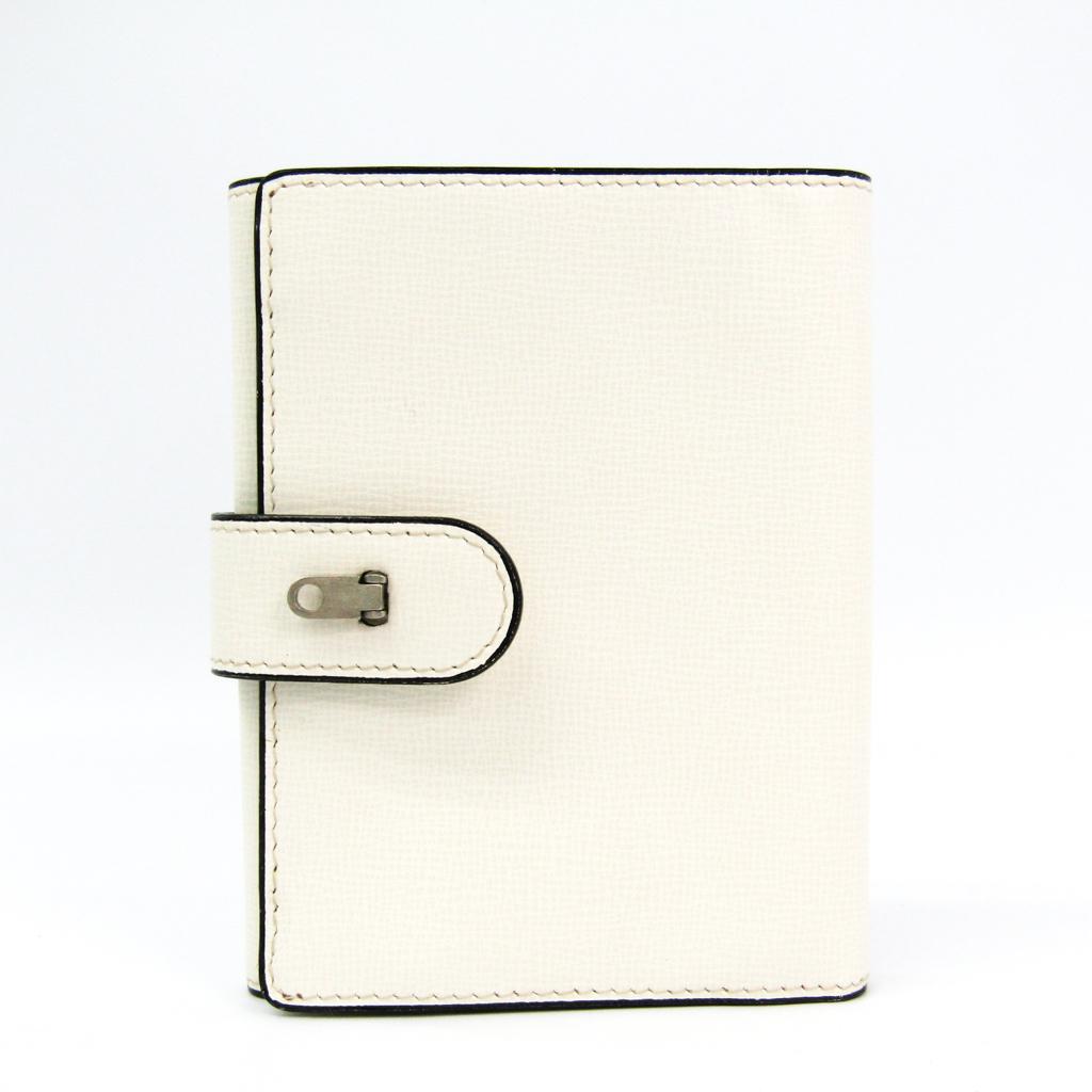 ヴァレクストラ(Valextra) ユニセックス レザー 財布(三つ折り) ホワイト 【中古】