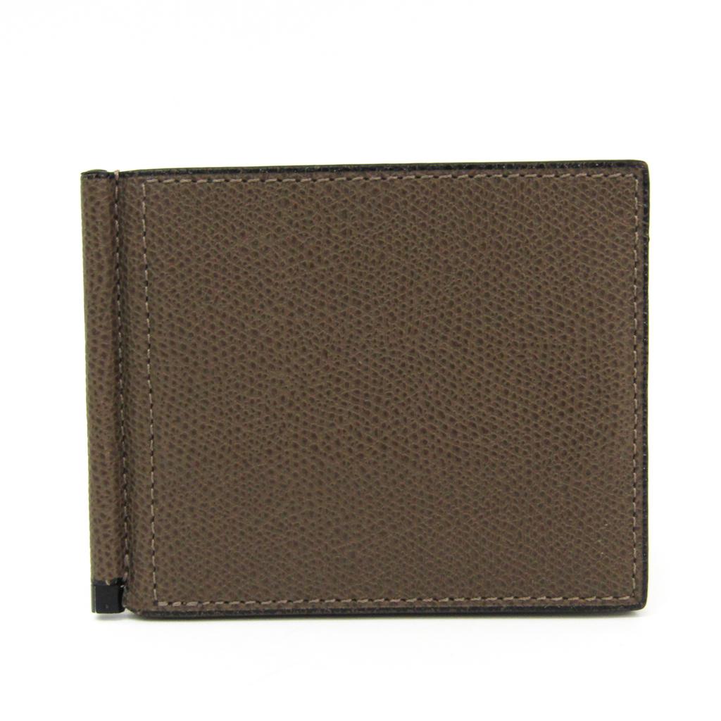 ヴァレクストラ(Valextra) V0L80 メンズ カーフスキン 財布(二つ折り) ブラウン 【中古】