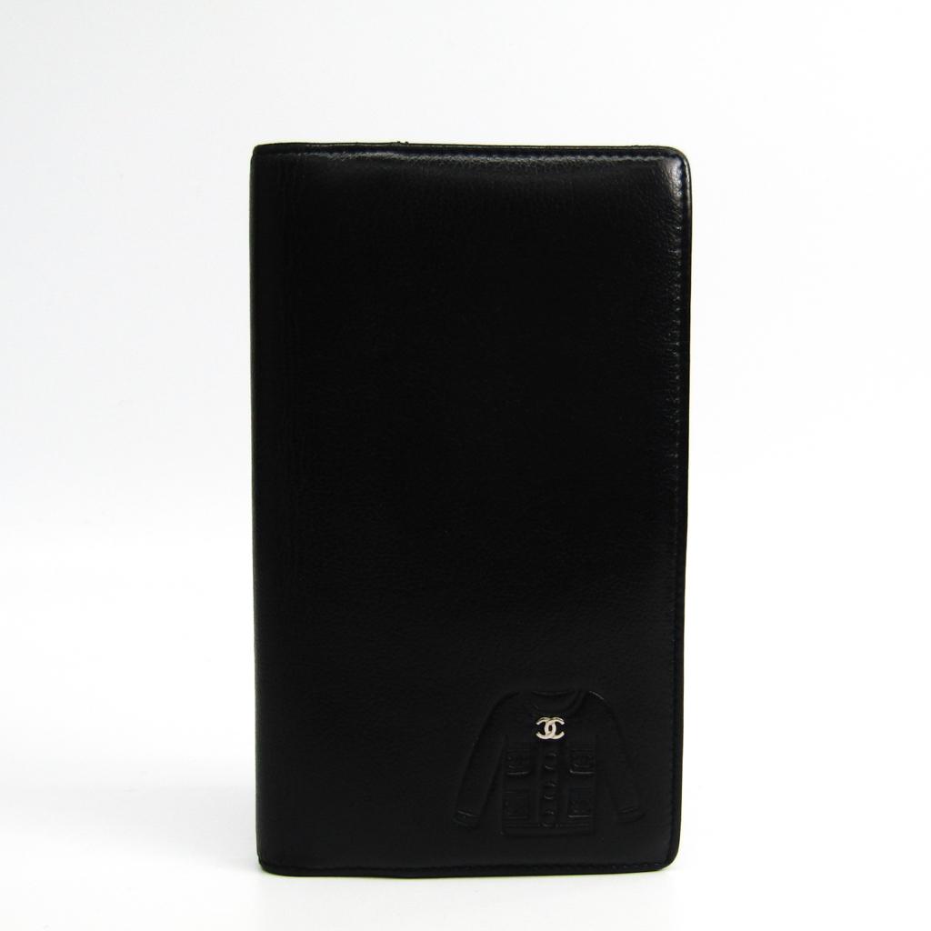 ブラック レディース シャネル(Chanel) ジャケットモチーフ 長財布(二つ折り) 【中古】 レザー