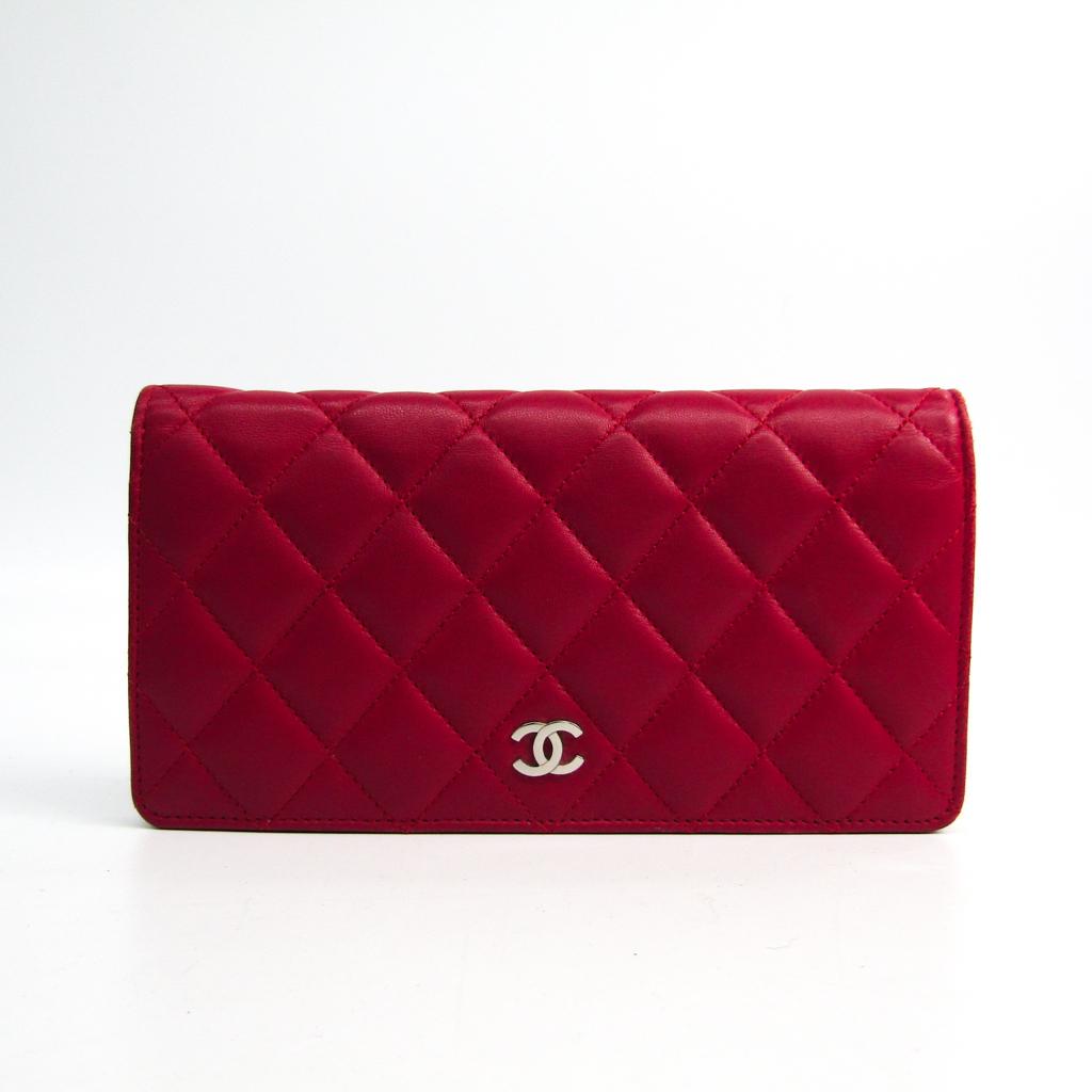 シャネル(Chanel) マトラッセ A31509 レディース ラムスキン 長財布(二つ折り) ピンク 【中古】