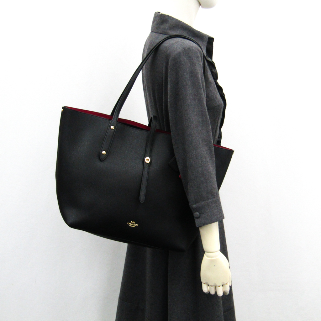 1c014bfde ... Coach (Coach) market Thoth 58849 Lady's leather tote bag black ...