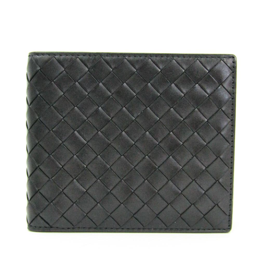ボッテガ・ヴェネタ(Bottega Veneta) イントレチャート 113993 イントレチャート 財布(二つ折り) ブラック 【中古】