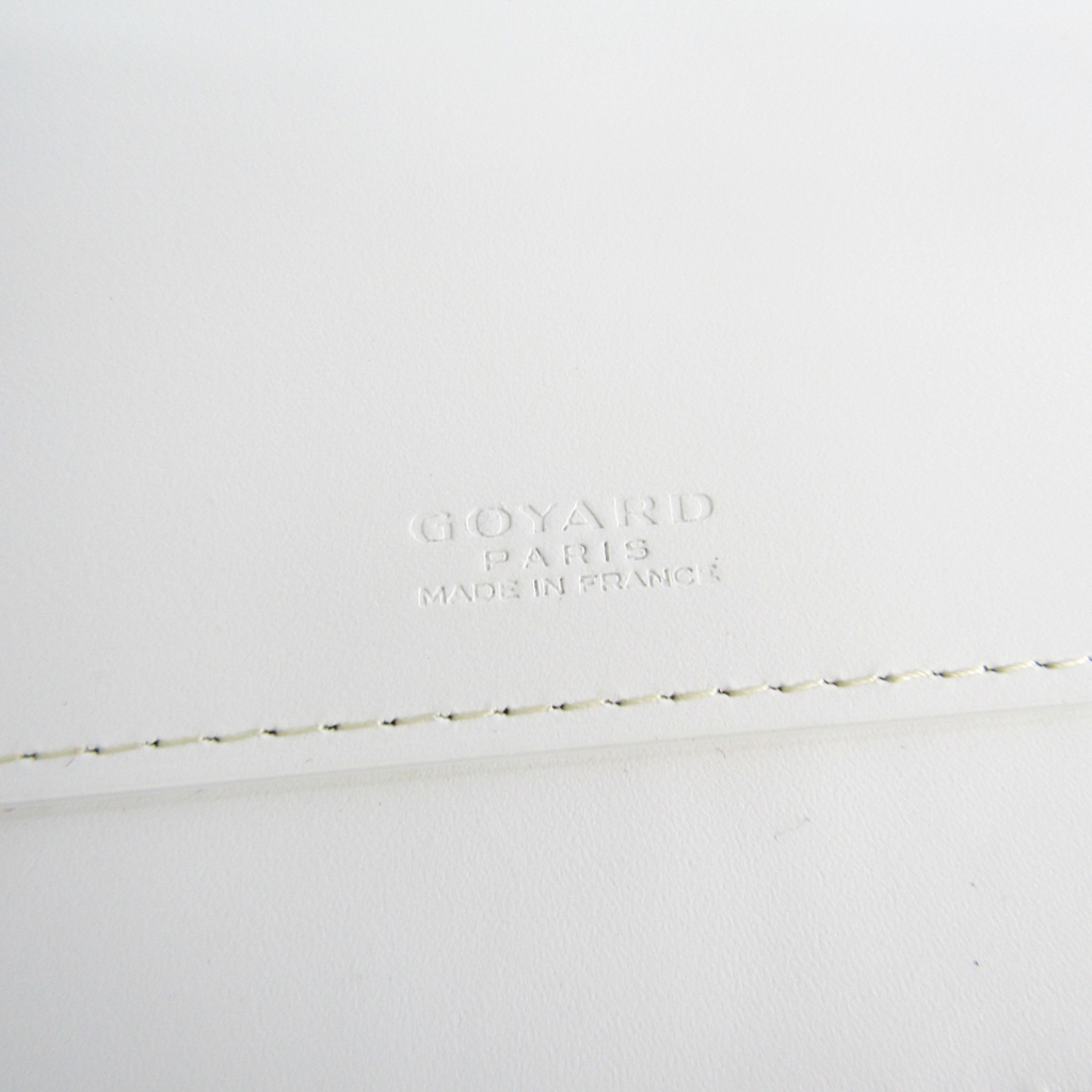 5375947b495a ゴヤール(Goyard) オペラ オーガナイザー メンズ キャンバス,レザー 長財布(二つ折り) ホワイト 【中古】