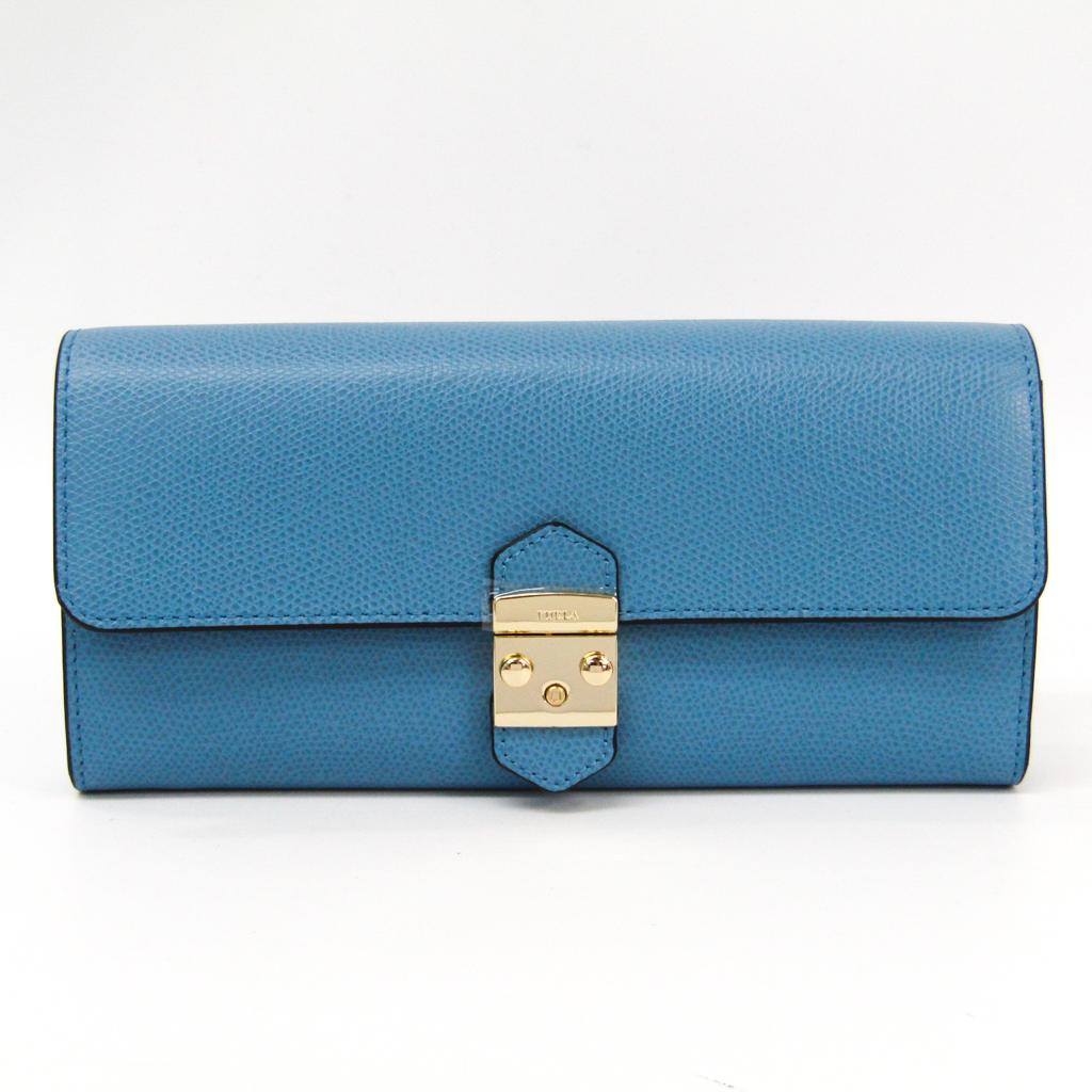 フルラ(Furla) メトロポリス XL バイフォールドウォレット 963443 レディース レザー 長財布(二つ折り) ブルー 【中古】